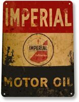Imperial Motor Oil Garage Gas Service Retro Vintage Wall Decor Large Metal Sign