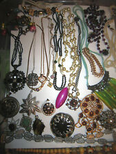 OLD NECKLACES / PENDANTS - LARGE BAG FULL - VINTAGE (30+)