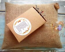 needle felting mat, hessian natural eco pad, foam alternative, 5 Free needles