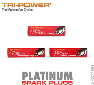 PLATINUM SPARK PLUGS - for Daihatsu Sirion 1.0L M100 (EJ-DE) TRI-POWER