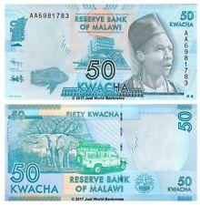 Malawi 50 Kwacha 2012 P-58 1st Prefix AA Banknotes UNC