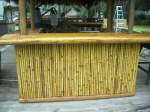 Custom Built Tiki Bar with Synthetic Thatch Roof heavy duty 7ftx9ft roof