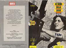 In nome della legge (1949) VHS Fonit Cetra Video  Massimo Girotti  Mafia  Germi