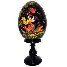 Conte Russe Oiseau de feu oeuf en bois peint Oeuf Collection Russe Oiseau de feu