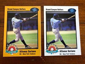 2 Alfonso Soriano 1998 Arizona Fall League Prospects-1 Gold  & 1 White #16 Nice