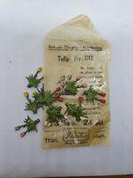 12 x Pre-war Britains 54mm cast lead #041 Tulips in original pack