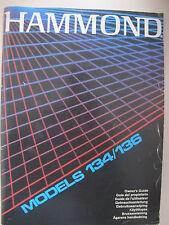 Hammond Heimorgel Models 134/136 Anleitung in 8 Sprachen gebraucht