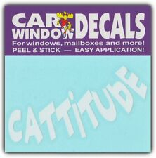Car Window Decals: Cattitude | I Loves Cats | Stickers Cars Trucks Glass