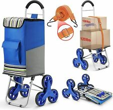 Super Loading Stair Climber Cart 220 lbs Capacity Grocery Foldable, Adjustable