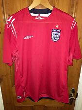 *MINT England Umbro Red Away Shirt Euro 2004/2005/2006, Extra Large (XL)
