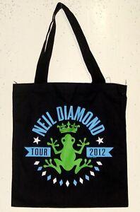UNUSED 2012 NEIL DIAMOND BLACK TOTE BAG