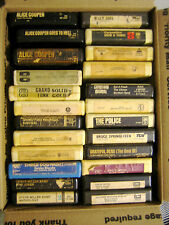 """24 RARE HTF VINTAGE COLLECTABLE 8 TRACK TAPES ROCK ETC... MUSIC  """" SOLD AS IS """""""