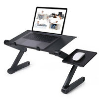 Portable Adjustable Aluminum Laptop Desk Ergonomic Table Stand With Mouse Pad
