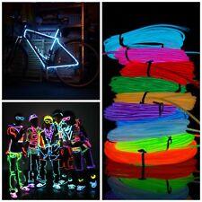 Stripe LED luminosa El Wire flessibile per decorazione vestiti e accessori party