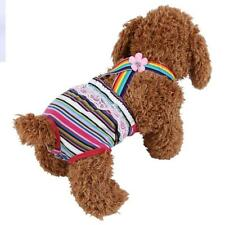 Female Dog Pet Diaper Suspender Underwear Cotton Reusable Pants Stripe Red US