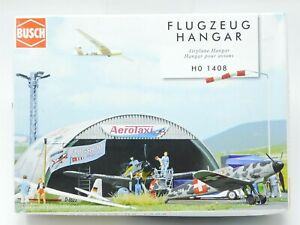 HO 1/87 Scale Busch Kit #1408 Airplane Hangar - Sealed