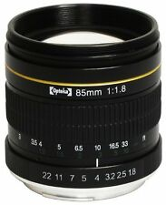 Opteka 85mm f/1.8 Manual Focus Aspherical Medium Telephoto Lens for Nikon