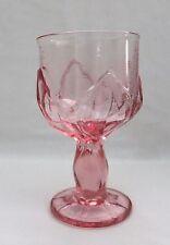 """RARE VINTAGE FRANCISCAN CRYSTAL CABARET PINK WINE GLASSES 5 1/2"""" x 3"""""""