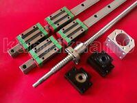 HGR15-950mm Linear Guideway 2 Rail+ballscrew RM1605-950mm+BK/BF12+ nut housing