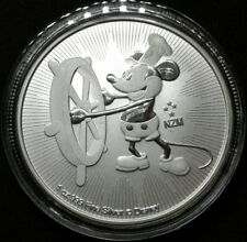 Disney Mickey Mouse 2017 1 oz Silver Niue Steamboat Willie Coin