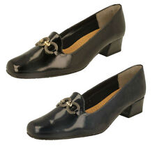 Court Shoes Wide (EE) 100% Leather Upper Heels for Women