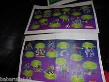 2 LOT PROOF SMALL SOLDIERS AD POSTERS BURGER KING FASTFOOD TOYS & FIGURES 17X11""