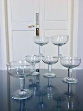 6 Coupes à champagne XIXème verre soufflé Service Bistrot
