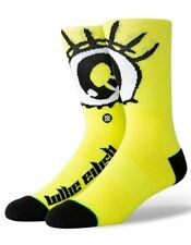 "Stance x Billie Eilish ""Anime Eyes"" Crew Socks (Neon Yellow), Large"