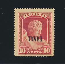 """CRETE 1908, 10L """"INVERTED OVPT"""", VF LH OG Sc#96b CAT$85 (SEE BELOW)"""