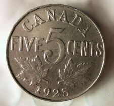1925 CANADA 5 CENTS - Extreme Key Date - HUGE VALUE- FREE SHIP - BARGAIN BIN #71