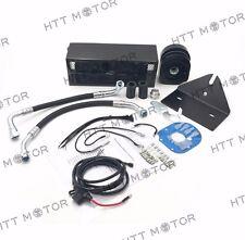 Motorcycle Black Reefer Oil Cooler Fan Cooling System Set For Harley Dyna 93-17