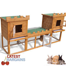 Outdoor Large Rabbit Hutch House Pet Cage Double Storey Cage Pen NEW