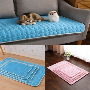 Dog Cooling Mat Pet Chilly Non-toxic Summer Cool Bed Pad Cushion Ice Silk
