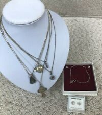 Sterling Silver 925 Hall Marked Jewellery Bundle 32.07G Includes Locket #682