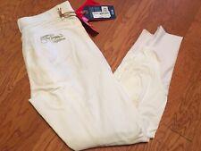 Horze Women's Kiana FS Full Seat Breeches ~ White ~ sz 28 New NWT