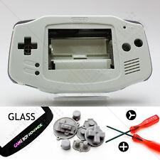 New White Shell & Glass Screen Nintendo Game Boy Advance GBA Housing/Case Kit