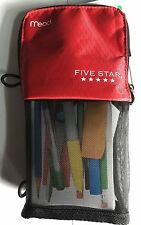 Five Star Stand 'N Store Pencil Pouch - Red
