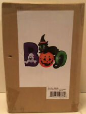 Gemmy Airblown Inflatable Boo Black Cat Jack O Lantern Ghost Lights Up 6 Ft New
