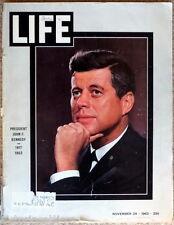 LIFE MAGAZINE John F.Kennedy / Jacqueline November 29,1963 25 Cents