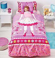 Ballerina Duvet Doona Quilt Cover Set Reversible | + Ballerina Cushion | Single