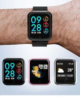 Blood Pressure Oxygen Heart Rate Monitoring Smart Watch Sport Fitness Tracker