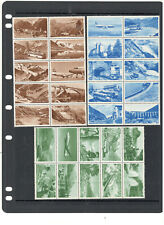 VINTAGE SWISS AIR POSTER STAMP COLLECTION