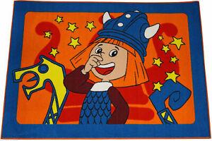 Wickie Teppich 133 x 95 cm Kinderteppich Kinderzimmer Spielteppich Vicke 228053