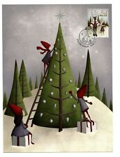 Aland 2016 Christmas Post Card Maxi FDC  Xmas Characters Elves AL105