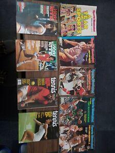 (9) Sports Illustrated 1977 1976 World Tennis Tom Watson Lot Magazines