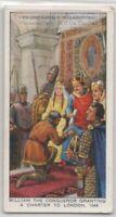 William the Conqueror Grants London Charter England 1066 80+ Y/O Ad Trade Card