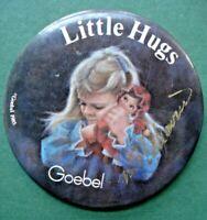 "Vtg 1985 Little Hugs Marian Flahavin Signed Goebel 3"" Pin Button Dearest Dolly"
