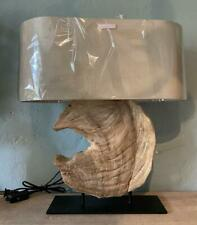 Table / Desk Lamp - Natural Wood Driftwood Centrepiece - Contemporary Design