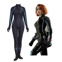 Black Widow Jumpsuit Zentai Bodysuit Halloween Cosplay Costume Party Ball Suit