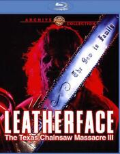 LEATHERFACE: THE TEXAS CHAINSAW MASSACRE 3 NEW BLU-RAY DISC